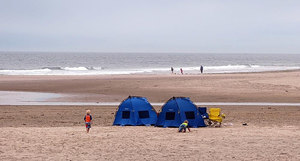 The beach at Rockaway.\Photo by Sonja Peterson.